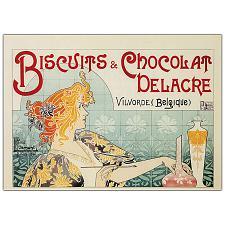 Biscuits & Chocolate Delacre by Privat Livemont-Framed 35x47