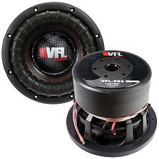 "American Bass 8"" Competition Woofer 1200W Max 4 Ohm Dvc"
