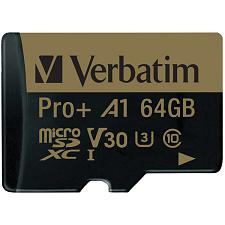 Verbatim 70002 64 Gb Pro Plus 666X Microsdxc Memory Card With Ad