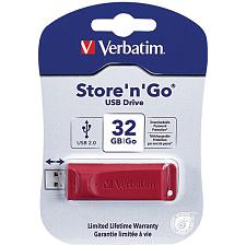 Verbatim 96806 Store 'N' Go Usb Flash Drive, Red (32Gb)