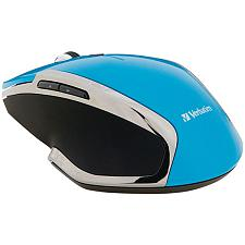 Verbatim 99016 Wireless Notebook 6-Button Deluxe Blue Led Mouse