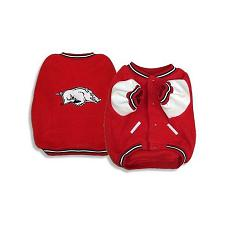 SportyK9 Arkansas Razorbacks Varsity Dog Jacket - Large