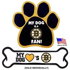 All Star Dogs Boston Bruins Car Magnets - Bone