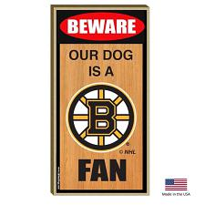 All Star Dogs Boston Bruins Wood Sign