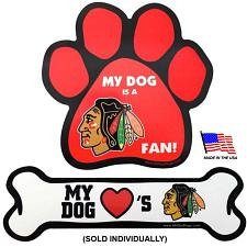 All Star Dogs Chicago Blackhawks Car Magnets - Bone