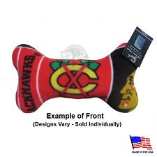 All Star Dogs Chicago Blackhawks Plush Bone Toy - Small
