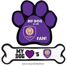 All Star Dogs Orlando City SC Car Magnets - Paw