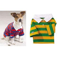 Pet Edge Back To School Rugby Polos - Green/Yellow - Large