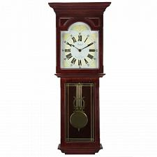 "Bedford Clock Collection Redwood 23"" Wall Clock with Pendulum an"