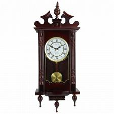"Bedford Clock Collection Classic 31"" Chiming Wall Clock With Rom"