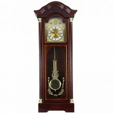 "Bedford Clock Collection 33"" Antique Cherry Oak Finish Chiming W"