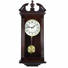 "Bedford Clock Collection 27.5"" Classic Chiming Wall Clock With S"