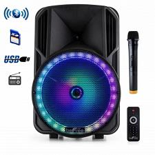 beFree Sound 12 Inch Bluetooth Rechargeable Portable PA Party Sp