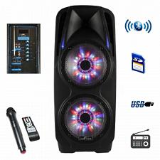 beFree Sound 2x10 Inch Woofer Portable Bluetooth Powered PA Spea