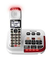Panasonic Consumer TGM420W Amplified Cordless With Answering In Whi