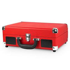 Innovative Technology VSC-550BT-RED Bluetooth Suitcase Turntable In Red