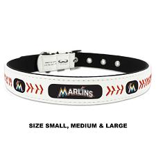 GameWear Miami Marlins Classic Leather Baseball Collar - Small