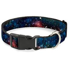Buckle-Down Buckle-Down Space Dust Collage Pet Collar - Large