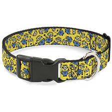 Buckle-Down Buckle-Down Minions Scattered Yellow Pet Collar - Large