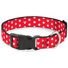 Buckle-Down Buckle-Down Minnie Mouse Polka Dot Pet Collar - Large