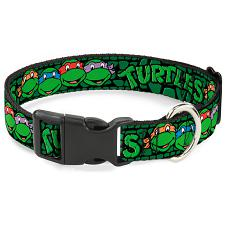 Buckle-Down Buckle-Down Classic TMNT Group Faces Pet Collar - Large