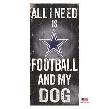 Fan Creations Dallas Cowboys Distressed Football And My Dog Sign