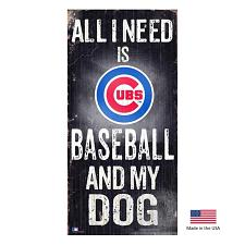 Fan Creations Chicago Cubs Distressed Baseball And My Dog Sign