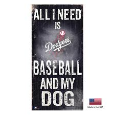 Fan Creations Los Angeles Dodgers Distressed Baseball And My Dog Sign