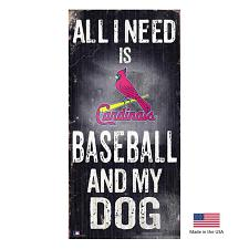 Fan Creations St. Louis Cardinals Distressed Baseball And My Dog Sign
