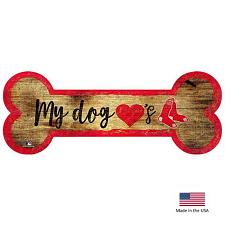 Fan Creations Boston Red Sox Distressed Dog Bone Wooden Sign
