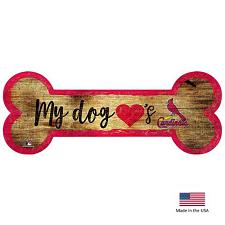 Fan Creations St. Louis Cardinals Distressed Dog Bone Wooden Sign