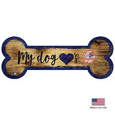 Fan Creations New York Yankees Distressed Dog Bone Wooden Sign