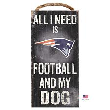 Fan Creations New England Patriots Distressed Football And My Dog Sign