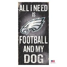 Fan Creations Philadelphia Eagles Distressed Football And My Dog Sign