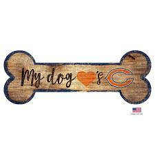 Fan Creations Chicago Bears Distressed Dog Bone Wooden Sign