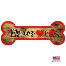 Fan Creations Cleveland Browns Distressed Dog Bone Wooden Sign