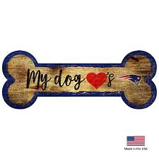 Fan Creations New England Patriots Distressed Dog Bone Wooden Sign