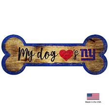Fan Creations New York Giants Distressed Dog Bone Wooden Sign