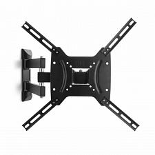 MegaMounts Full Motion, Tilt and Swivel Single Stud Wall Mount for 26-55 Inch L