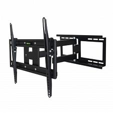 MegaMounts Full Motion Wall Mount with Bubble Level for 26 - 55 Inch LCD, LED, a