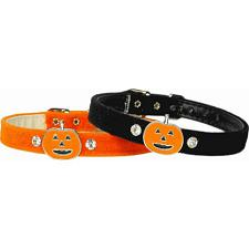 Mirage Pet Products Halloween Charm Collar - Black - Large (#16) - Ghost