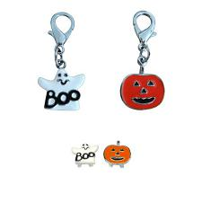 Mirage Pet Products Halloween Collar Charm - Ghost - Lobster Claw