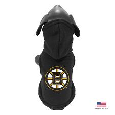 All Star Dogs Boston Bruins Polar Fleece Pet Hoodie - Large