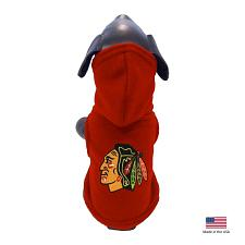 All Star Dogs Chicago Blackhawks Polar Fleece Pet Hoodie - Large