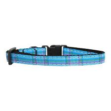 Mirage Pet Products Blue Plaid Cat Safety Collar