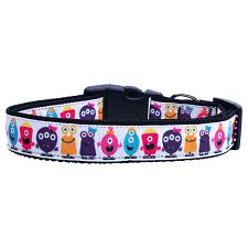 Mirage Pet Products Monsters Nylon Ribbon Dog Collar - LG