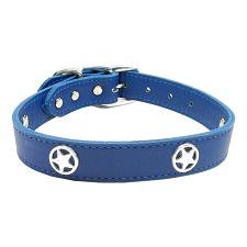 Mirage Pet Products Blue Western Star Leather Dog Collar - 22