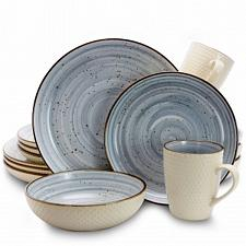 Elama Mellow 16-Piece Dinnerware Set in Powder Blue