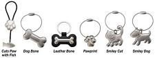 Pet Edge Pet Studio Key Rings - Cat's Paw w/Fish