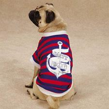 Pet Edge All Paws On Deck Salty Dog Tee - Large